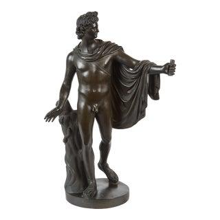 Late 19th Century French Bronze Sculpture of Apollo Belvedere