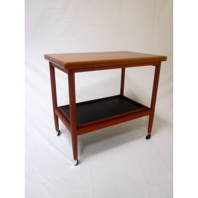 Danish Modern Mid-Century Bar Cart Table - Image 4 of 8