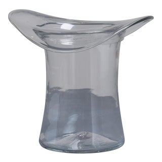 A Blenko Glass Top Hat Ice Bucket USA 1980s stamped