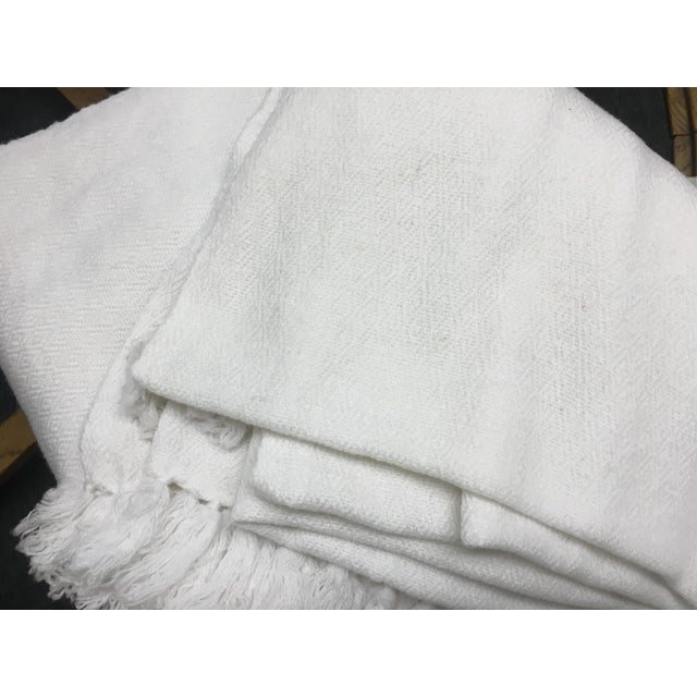 White Tassel Cashmere Blend Blanket - Image 11 of 11