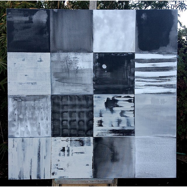 Image of Original Contemporary Gray Abstract Painting