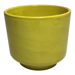 Vintage Yellow Italian Pottery Planter