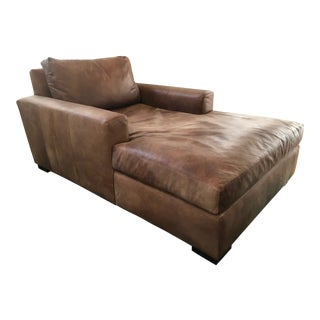 Restoration Hardware Maxwell Leather Chaise Lounge
