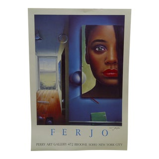 Signed Ferjo Poster Perry Art Gallery New York