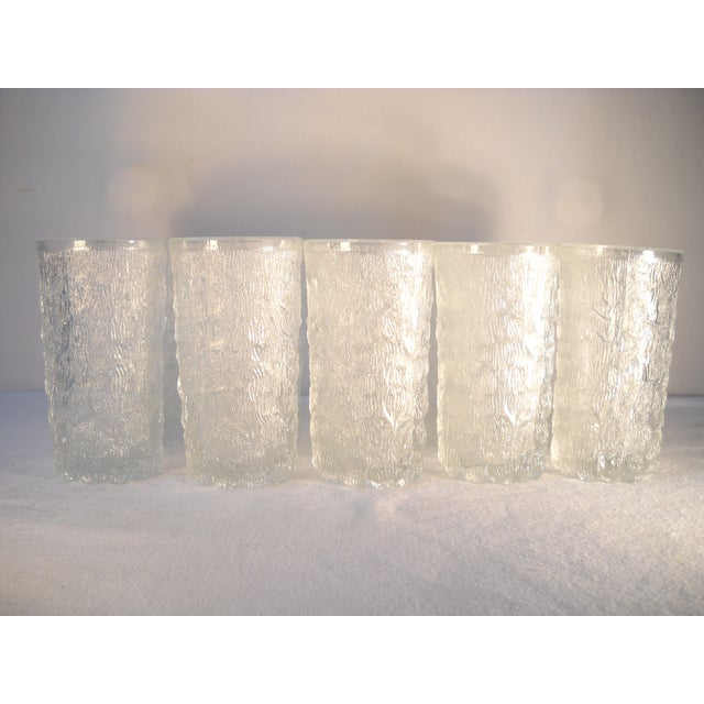 Danish Modern Ice-Textured Glasses - Set of 10 - Image 6 of 8