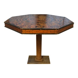 German Inlay Dining Table