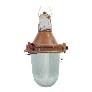 Soviet Era Industrial Pendant Light Fixture