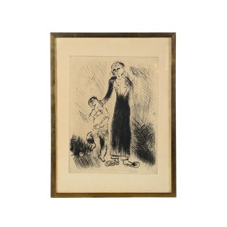 'Mother Pulling Kid by His Ear' Marc Chagall Print