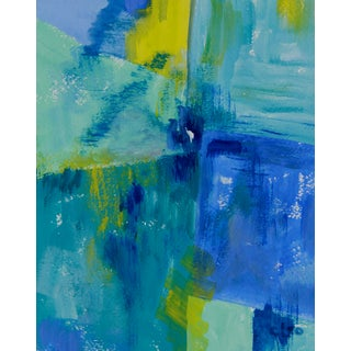 """Rubato in Blue"" Abstract Painting by Cleo"