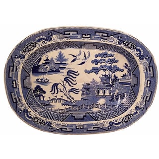 Blue Willow Ware Meat Platter