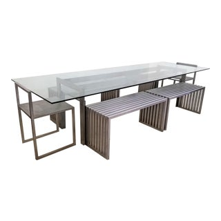 Philip Plein Steel Dining Set - Set of 7