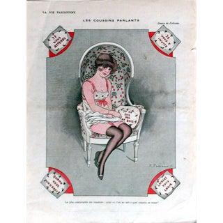 Fabiano 1916 La Vie Parisienne ''Les Coussins Parlants'' Print