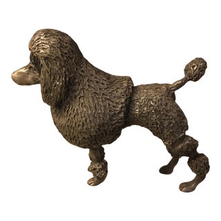 Reed & Barton Silverplate Poodle Paperweight