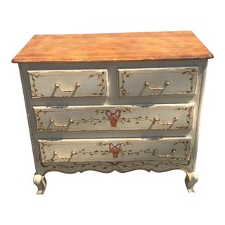 Patina Furniture Louis XV Paint Decorated Designer Commode