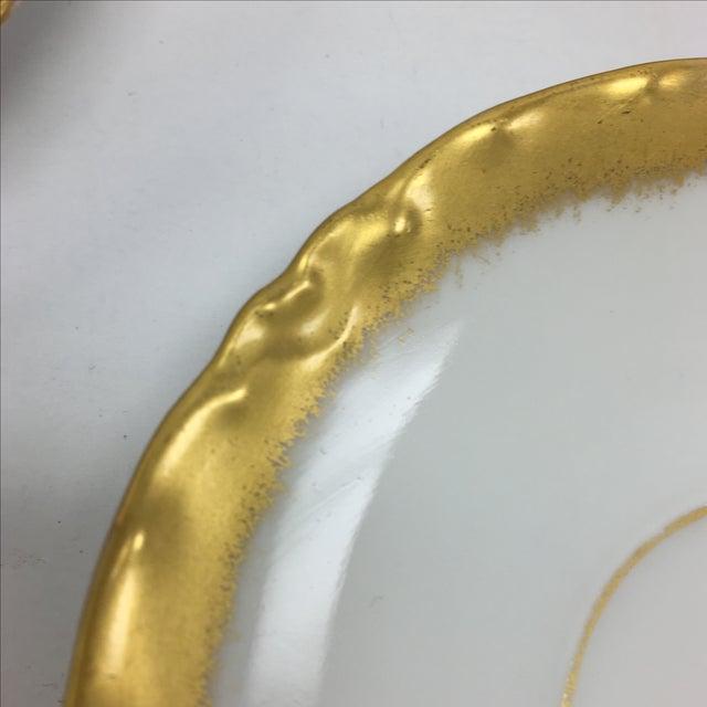 Image of Antique Gold & White Bavaria Saucers - Set of 7