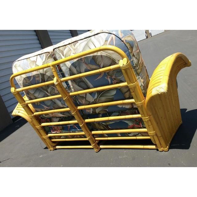 Art Deco Rattan Fan Arm 2 Seat Sofa - Image 5 of 8