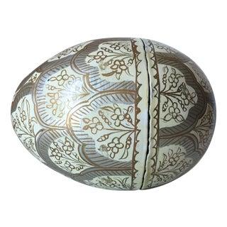Vintage Kashmir Papier Mache 'Egg' Box