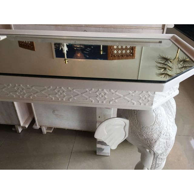 Gampel-Stoll White Elephant Console Table - Image 6 of 11