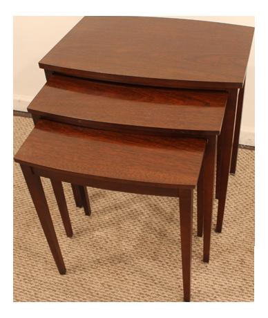 Traditional Mahogany Nesting Tables   Set Of 3