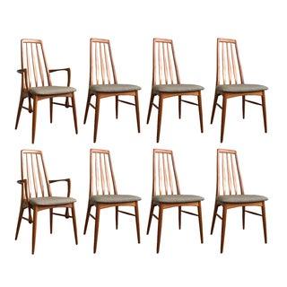 "Niels Koefoed Danish Modern Teak ""Eva"" Chairs- Set of 8"
