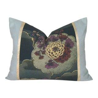 Vintage Japanese Silk Floral Obi Pillow Cover