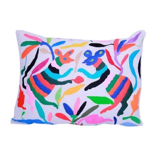 Hand-woven Mexican Otomi Pillow Cover