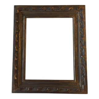 Mid-Century Carved Dark Gold Picture Frame