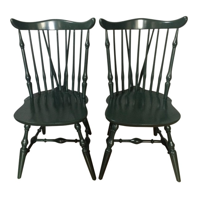 Windsor Lacquer Side Chairs - A Pair - Image 1 of 8