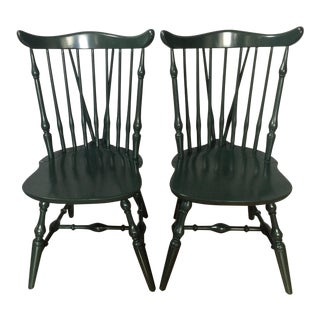 Windsor Lacquer Side Chairs - A Pair
