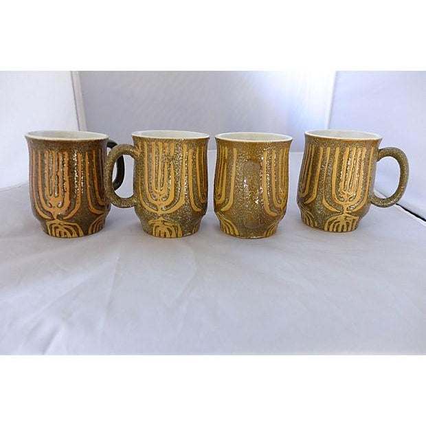 Image of Mid-Century Rustic Coffee Mugs - Set of 4