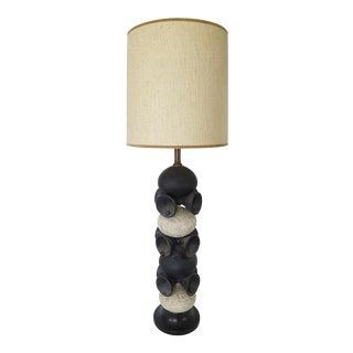 Mid-Century Pottery Doorbells Table Lamp