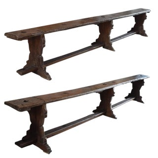 Pair of Italian Three-Leg Benches