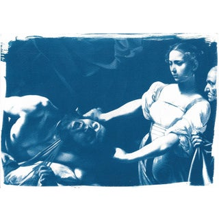 """Judith Beheading Holofernes"" Cyanotype Print"
