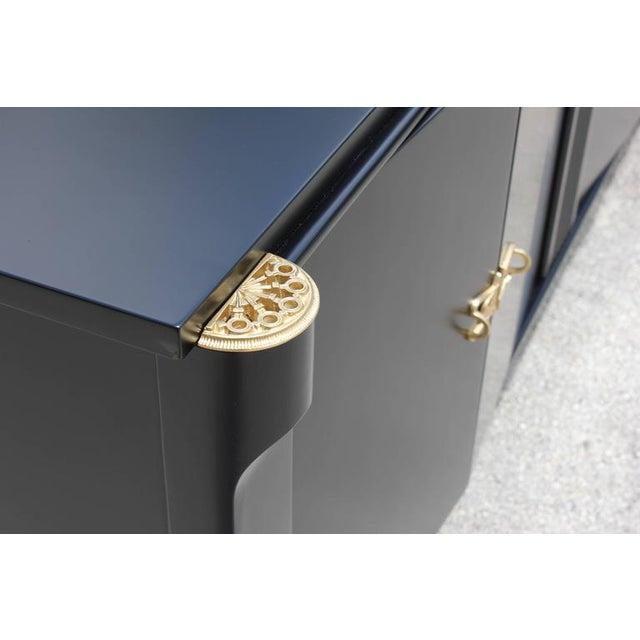 French Art Deco Ebonized Sideboard / Buffet / Bar - Image 10 of 10