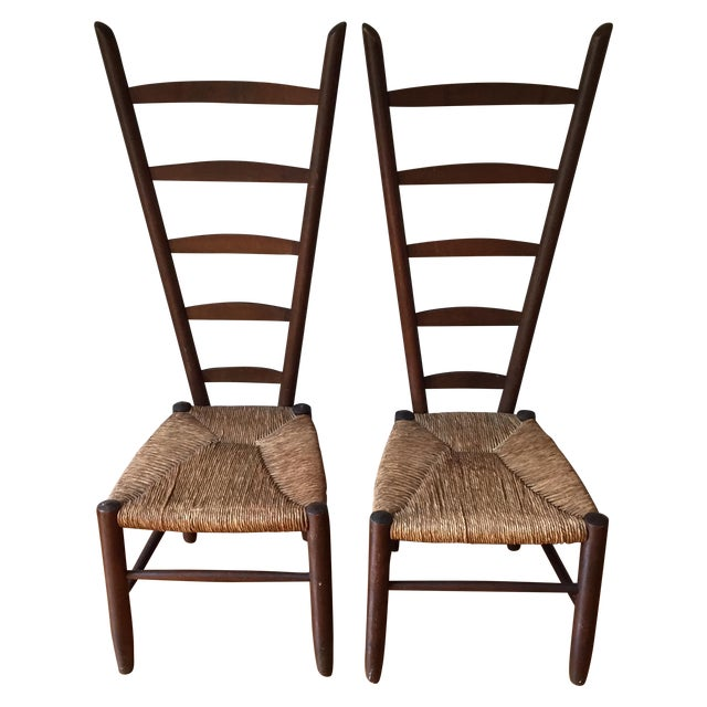 Rare Italian Vintner Chairs - A Pair - Image 1 of 6