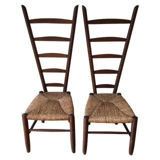 Rare Italian Vintner Chairs - A Pair