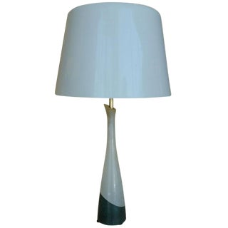 Mid-Century Two Tone Alabaster Table Lamp