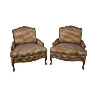 Taylor King French Louis XV Bergere Chairs - A Pair