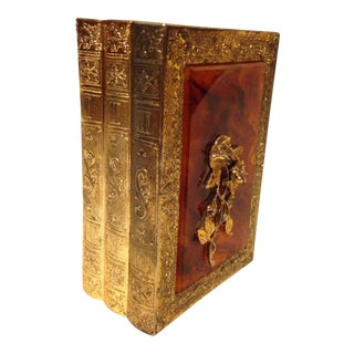 Hollow Metal Musical Book Shaped Hide-Box