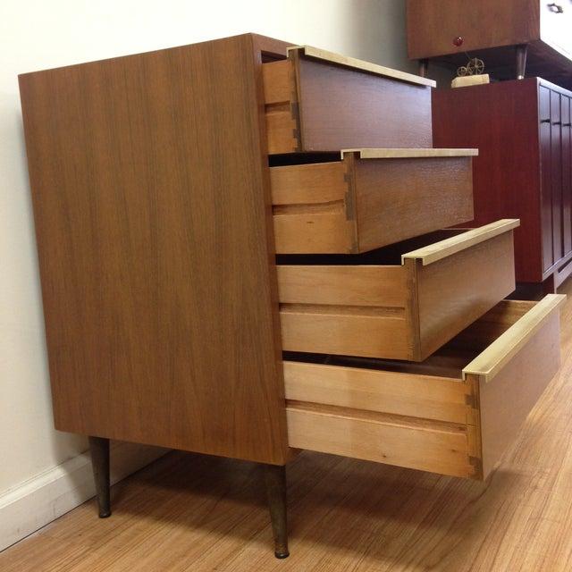 Image of Brown Saltman Petite Low Boy Dresser