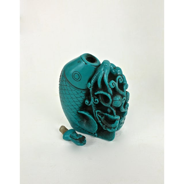 Turquoise Koi Fish Snuff Bottle - Image 6 of 7