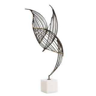 Abstract Mid-Century Winged Metal Sculpture