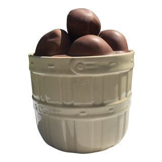 McCoy Lidded Pottery Basket of Potatoes