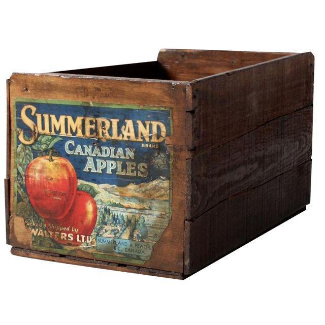 Vintage Apple Crate Wood Box - Image 1 of 7