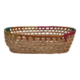 Handwoven Oval Basket