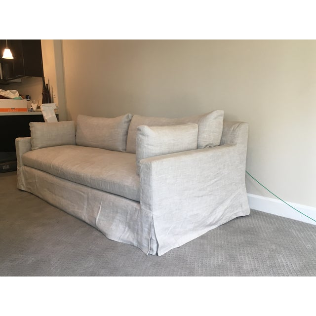 Image of Restoration Hardware Belgian Linen Sofa