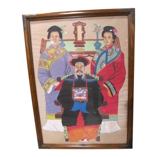 Chinese Family Ancestor Painting