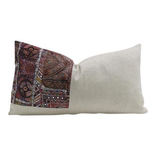 Neha Metallic Embroidered Lumbar Pillow