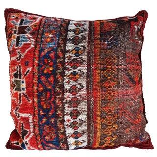 19th-C. Tribal Kashqai Fragment Pillow