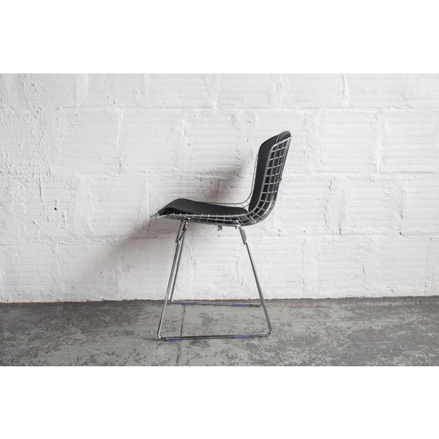 Knoll Bertoia Black Padded Wire Side Chair - Image 4 of 8